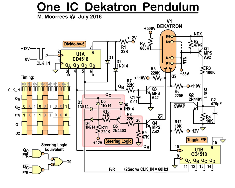 Pendulums Threeneurons Pile Opoo Simple Circuit Diagrams For Counter The Is Encoded Timing Diagram Shows How Guide Signals Are Extracted G2 Pulled Directly From Qb It Only Has A Rc