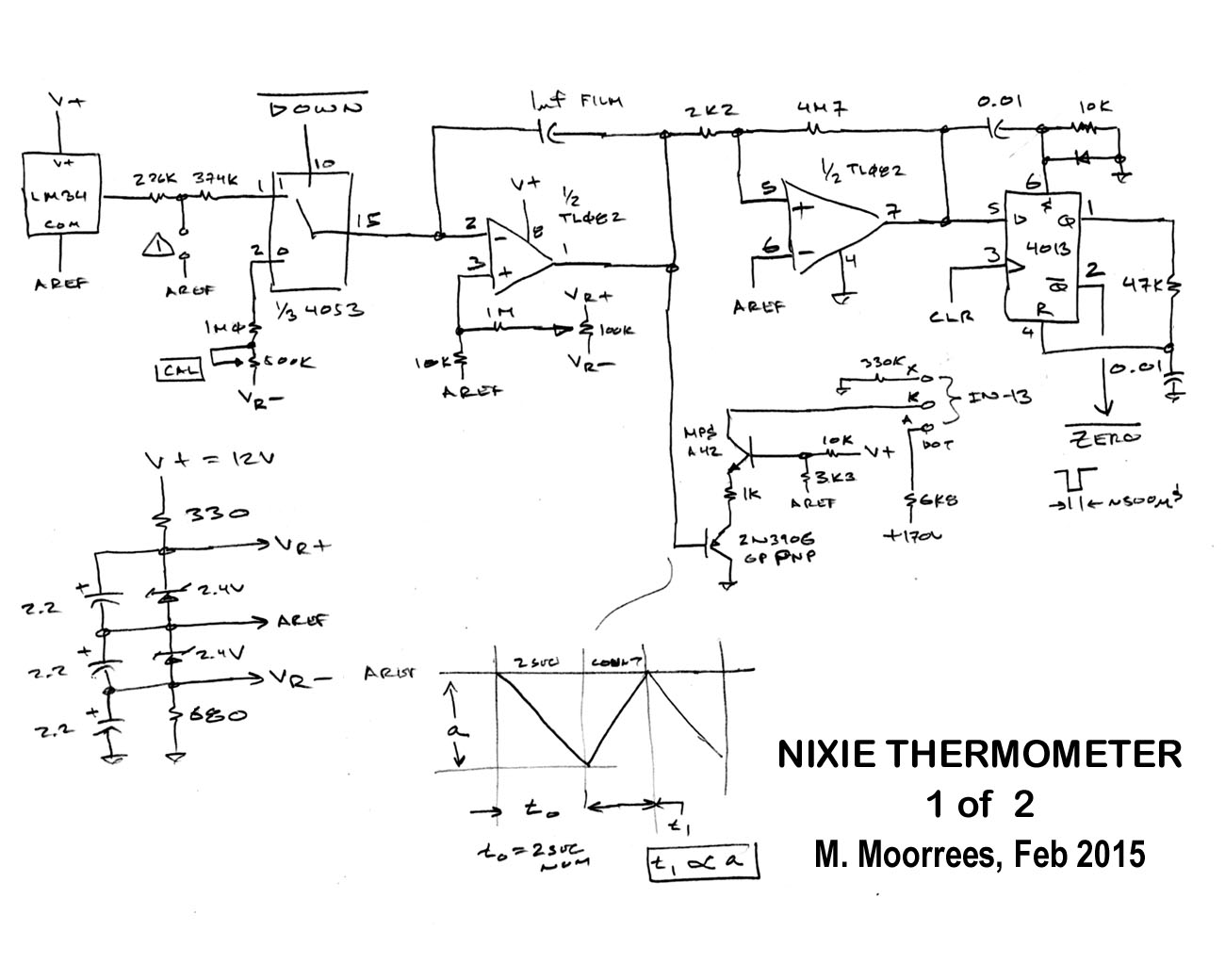 Nixie Thermometer Threeneurons Pile Opoo Clock Circuit N Therm03